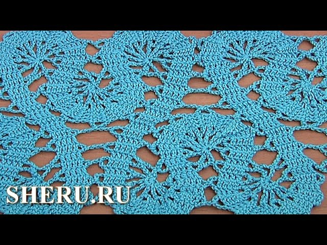 Кайма или лента в технике брюггского кружева How to Crochet Bruges Lace Tape Tutorial 19 Part 2 of 2