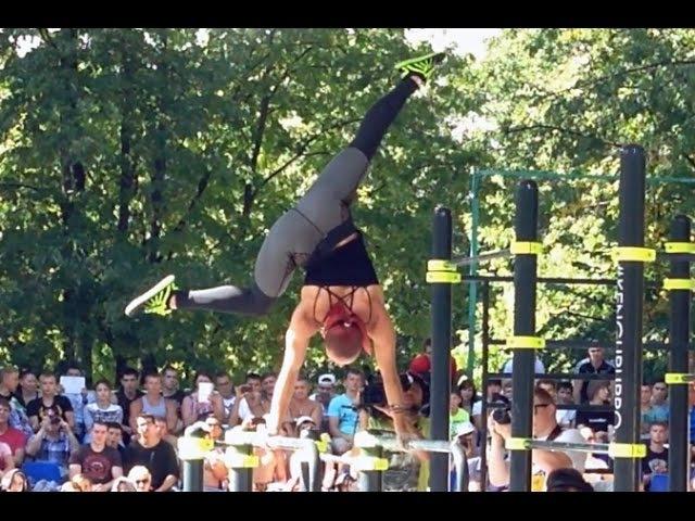 Bogdanov Jessica Sandra Winner of Female World Street Workout Championship 2015 (Moscow)