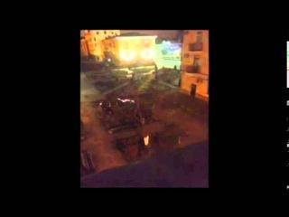 Бои в Грозном, Чечня (04.12.2014) - Бешеный бой в центре города!!! Безумный шквал огня!!!