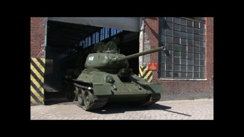 Ветеран сел за рычаги восстановленного Т-34 спустя 70 лет