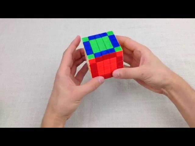 Как собрать кубик Рубика 5х5 - всего 2 формулы, понятно и наглядно для начинающих