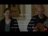 Duo Daja Leevke Hinrichs Stefan Hladek Allegretto Rondo Hamburger Sonate Carl Philipp Emanuel Bach