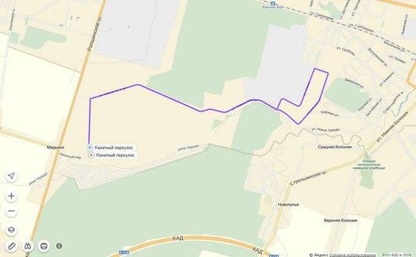Схема маршрута и место старта.