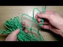 Делаем гамак Ч 1 Вяжем сеть
