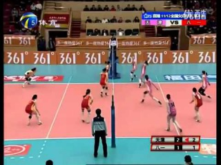 Incredible Women's Volleyball Rally In China