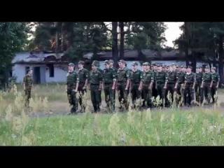 Рота солдат поёт песню из мультика Спанч Боб