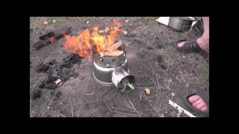 Самодельная турбо печка из набора кастрюль