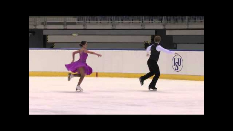 2015 Junior Grand Prix - Bratislava. SD Audrey CROTEAU-VILLENEUVE / Jeff HOUGH