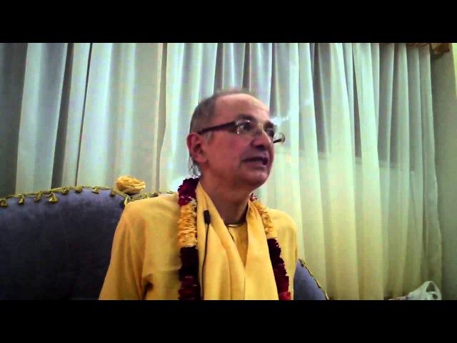 Бхакти Вигьяна Госвами Важность следованию садханы 2014 01 07 УМАНЬ