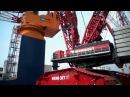 Liebherr LR 13000 installing platform legs of the Aeolus in Bremerhaven