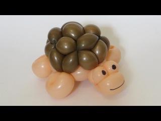 Черепаха из двух шаров / Turtle of two balloons, twisting