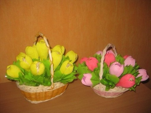 Букеты из конфет на 8 марта своими руками фото