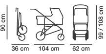 Габариты коляски Hartan VIP XL