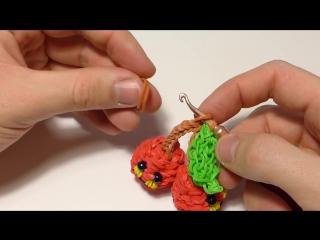 Веселая 3d ВИШНЯ из резинок Rainbow Loom Bands - Cherry Rainbow Loom