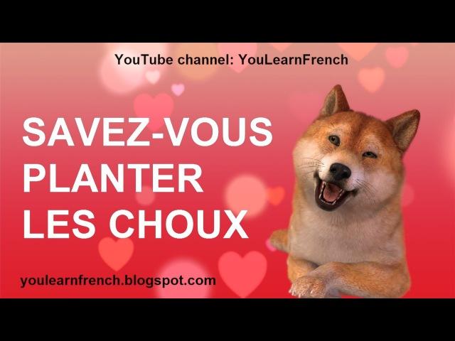SAVEZ VOUS PLANTER LES CHOUX Comptines Chansons enfantines Paroles French English kids songs