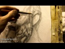 Обучение рисунку Портрет 16 серия рисунок гипсовой головы Сократа часть 2