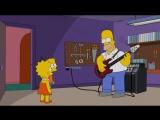 Гомер Симпсон играет на басу