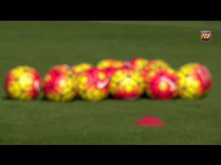 FC Barcelona training session First workout of the latest hiatus
