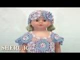 Детские летние платье и шапочки Урок 72 часть 3 из 5 Crochet Round Motif  Baby Dress