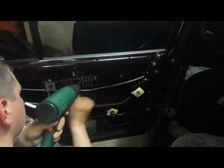 Шумоизоляция автомобиля ВАЗ 2107 своими руками(задняя дверь)STP /insulation car