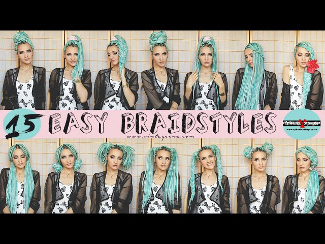 HOW I STYLE MY BOX BRAIDS || 15 EASY HAIRSTYLES TUTORIAL by VINTAGEENA