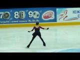 Евгения Медведева, КП на тренировке (ЧР 2015)