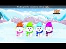 Five Little Snowmen with Lyrics Sing Along