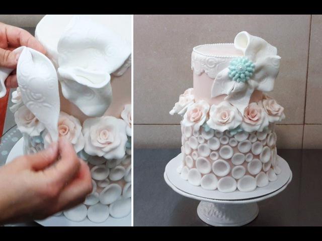 Vintage Rose Cake - Decorar con Fondant by CakesStepbyStep