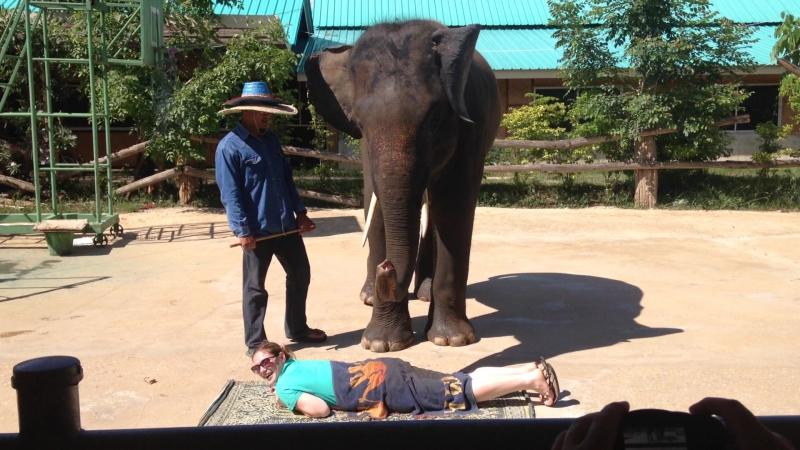 Слоновый массаж)