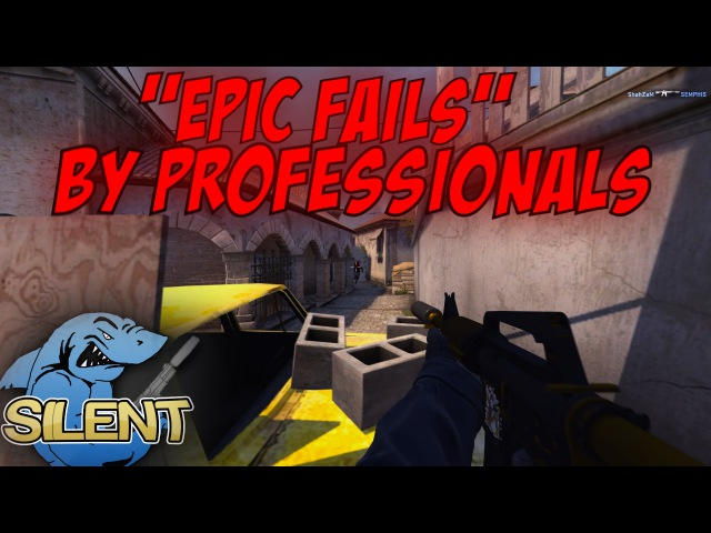 CS:GO - EPIC FAILS by Professionals w/ (ShaHzam, GeT_RiGhT, paszabiceps, JW and more)