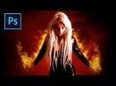 Fiery Portrait ⋆ Photoshop Manipulation Tutorial