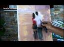 Макс Скоблинский уроки живописи Парочка под зонтом Max Skoblinsky Игорь Сахаров