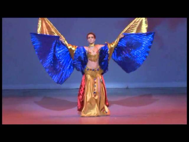 Belly Dance Triple Isis Wings at Spark Dance Competition 2012 by Iana Silver Award