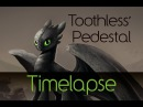 Toothless' Pedestal Timelapse Illustration and Tee Design