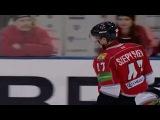 КХЛ Металлург Нк - Авангард (2013.01) Сейв. К. Рамо (Авангард) ловит шайбу.