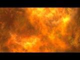 Abstract explosion fire on black background. Fire Огонь. Фон, футаж, заставка для видеомонтажа.