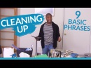 Learn English 9 basic phrases for CLEANING UP
