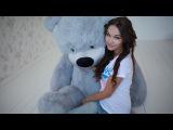Огромный плюшевый медведь 2 метра по имени Тихон серого цвета. Купить >> http://goo.gl/4IkKRC