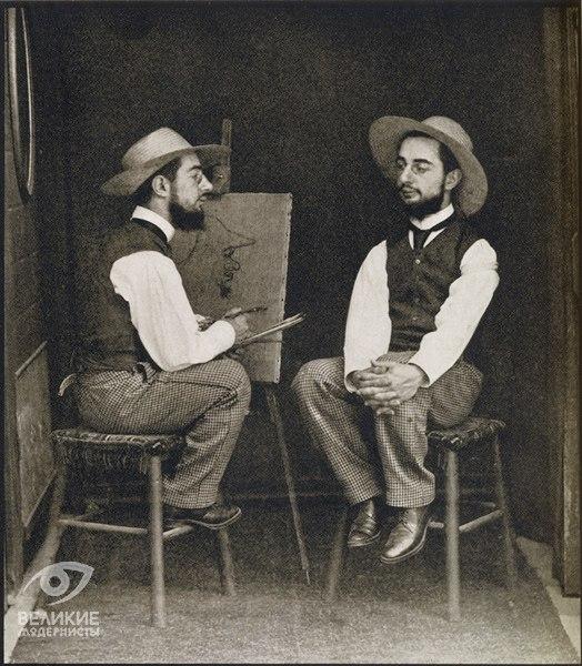 Господин тулуз пишет портрет господина лотрека-монфа