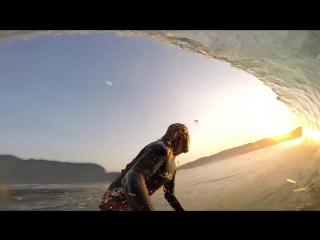 GoPro- Бали серфинг лагерь. Пляж Керамас и Серанган.