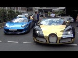 Arab Supercar Insanity in London - 918 Spyder, N-Largo, Aventadors, Veyrons, FAB SLR And More