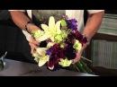 Яркий букет невесты с лилиями