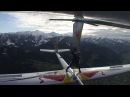 Skydiver moves between gliders in mid air Red Bull Akte Blanix 2