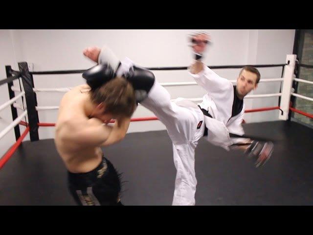 Taekwondo vs Muay Thai 2014   Martial Arts Fight Scene (Real Contact Hits)