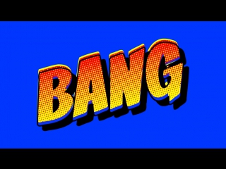 Comic Book Bang - Free Animation Footage Green Screen