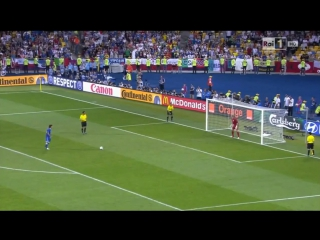 Гениальный гол Пирло в ворота сборной Англии в серии пенальти ЧЕ 2012