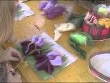 Татьяна Скляр. М/к по валянию. Изготовление картин в технике «Шерстяная акварель» (16.07.2011)