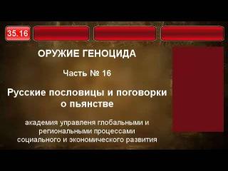 35.16.  Русские пословицы и поговорки о пьянстве