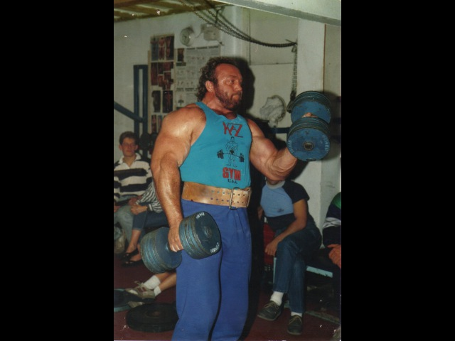 Bill Kazmaier Worlds Strongest Man At Daves Gym Northwich 1988 (with Jamie Reeves)