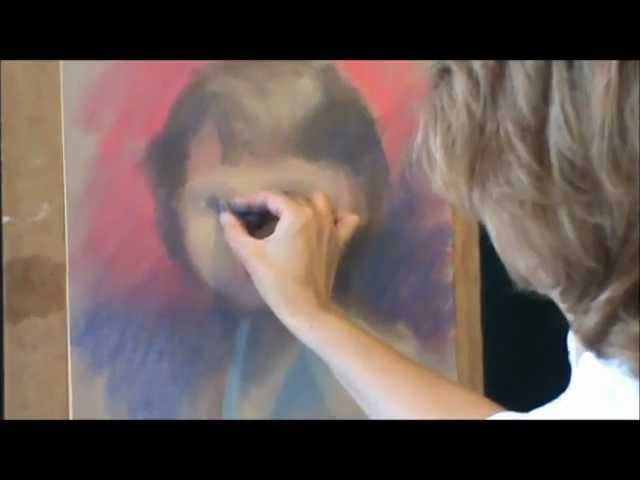 Как нарисовать портрет пастелью(ч.1).wmv